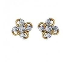 Diamond Earrings 0.34 CT / 4.73 gm GOLD