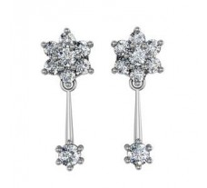 Diamond Earrings 1.20 CT / 6.06 gm Gold