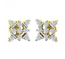Natural Diamond Earrings 0.36 CT / 2.25 gm Gold