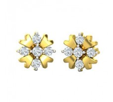 Natural Diamond Earrings 0.42 CT / 4.62 gm Gold