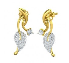 Natural Diamond Earrings 0.92 CT / 8.00 gm Gold
