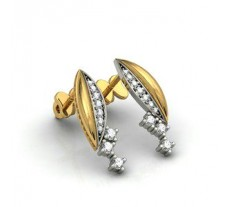Natural Diamond Earrings 0.390 CT / 3.850 gm Gold
