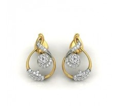 Diamond Earrings 0.89 CT / 8 gm Gold