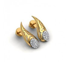 Natural Diamond Earrings 0.60 CT / 6 gm Gold