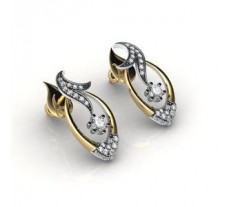 Natural Diamond Earrings 0.83 CT / 5.64 gm Gold