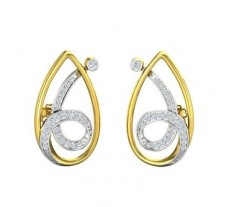 Natural Diamond Earrings 0.58 CT /  7.11 gm Gold