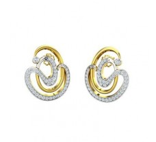 Natural Diamond Earrings 0.86 CT / 7.46 gm Gold