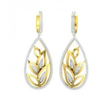 Natural Diamond Earrings 1.61 CT / 14.83 gm Gold