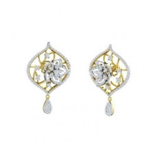Natural Diamond Earrings 1.82 CT / 11.63 gm Gold
