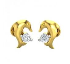 Natural Diamond Earrings 0.07 CT / 2.25 gm Gold