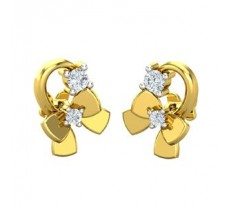 Natural Diamond Earrings 0.09 CT / 2.80 gm Gold