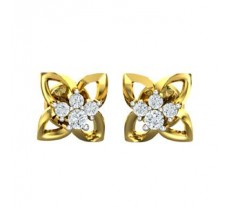 Natural Diamond Earrings 0.14 CT / 2.00 gm Gold