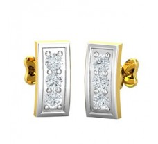 Natural Diamond Earrings 0.07 CT / 2.30 gm Gold