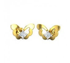 Natural Diamond Earrings 0.05 CT / 2.50 gm Gold
