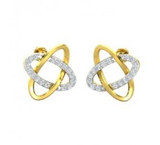 Natural Diamond Earrings 0.19 CT / 2.90 gm Gold