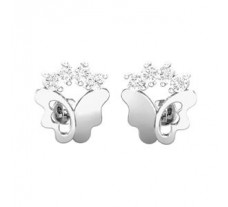 Natural Diamond Earrings 0.18 CT / 1.85 gm Gold