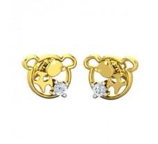 Natural Diamond Earrings 0.03 CT / 1.20 gm Gold