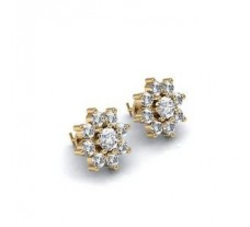Diamond Earrings 0.57 CT / 3.30 gm Gold
