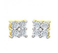 Natural Diamond Earrings 0.16 CT / 1.50 gm Gold