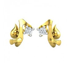 Natural Diamond Earrings 0.06 CT / 2.50 gm Gold