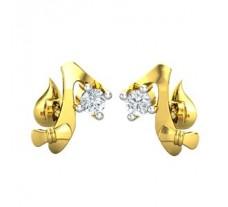 Diamond Earrings 0.06 CT / 2.50 gm Gold