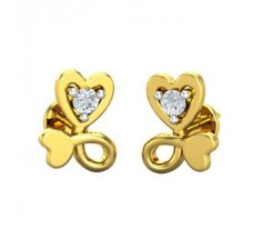 Natural Diamond Earrings 0.04 CT /  1.20 gm Gold