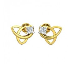 Natural Diamond Earrings 0.07 CT /  2.30 gm Gold