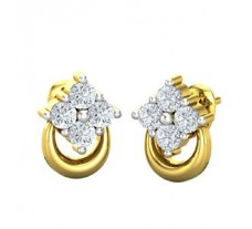 Natural Diamond Earrings 0.18 CT /  1.50 gm Gold