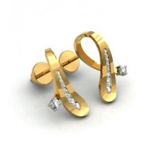 Diamond Earrings 0.46 CT /  3.2 gm Gold