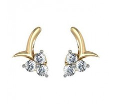 Diamond Earrings 0.27 CT / 1.94 gm Gold