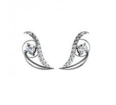 Diamond Earrings  0.43 CT / 1.84  gm Gold