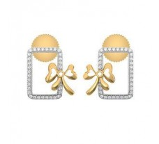 Natural Diamond Earrings 0.32 CT / 5.53 gm Gold