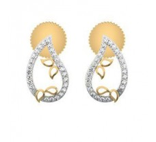 Natural Diamond Earrings 0.15 CT / 2.50 gm Gold