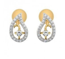 Natural Diamond Earrings 0.29 CT / 2.00 gm Gold