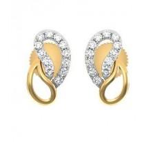 Natural Diamond Earrings 0.19 CT / 2.90 gm Gold