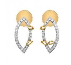 Diamond Earrings 0.21 CT / 2.40 gm Gold