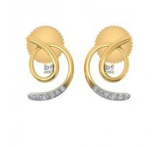 Natural Diamond Earrings 0.10 CT / 2.20 gm Gold