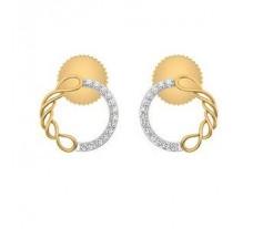 Natural Diamond Earrings 0.15 CT / 3.20 gm Gold