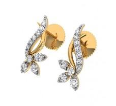 Natural Diamond Earrings 0.21 CT / 2.10 gm Gold