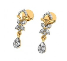 Natural Diamond Earrings 0.18 CT / 2.40 gm Gold