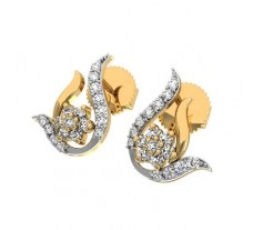Natural Diamond Earrings 0.32 CT / 2.40 gm Gold