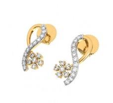 Diamond Earrings 0.41 CT / 2.30 gm Gold