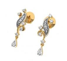 Natural Diamond Earrings 0.32 CT / 2.45 gm Gold