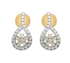 Diamond Earrings 0.69 CT / 2.55 gm Gold