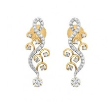 Natural Diamond Earrings 0.49 CT / 3.16 gm Gold