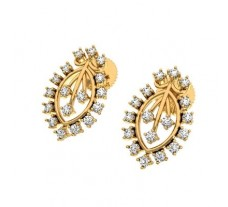 Natural Diamond Earrings 0.71 CT / 3.65 gm Gold
