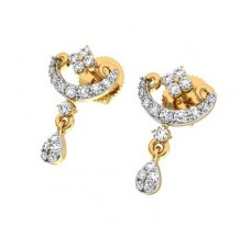 Natural Diamond Earrings 0.448 CT / 2.50 gm Gold