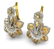 Natural Diamond Earrings 1.76 CT / 31.424 gm Gold