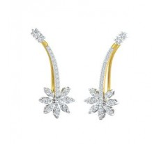 Natural Diamond Earrings 0.56 CT / 2.70 gm Gold
