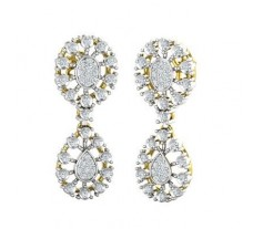 Natural Diamond Earrings 0.64 CT / 7.90 gm Gold
